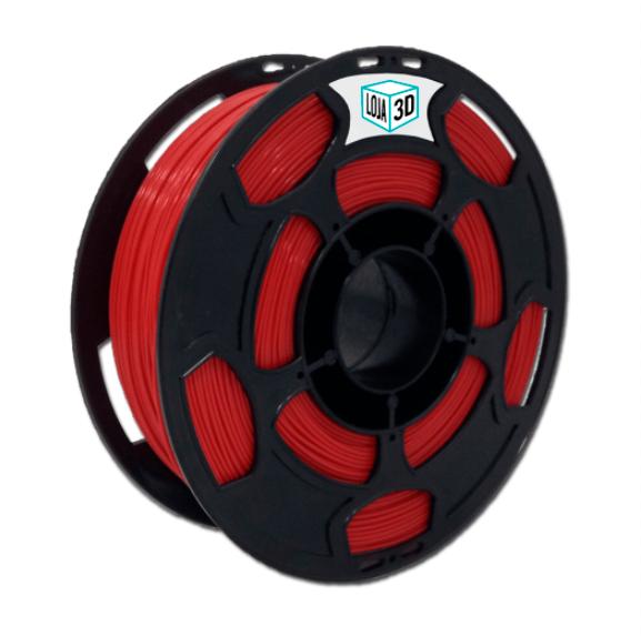 Filamento PLA Pro - Vermelho - Loja 3D - 3.00mm - 1kg
