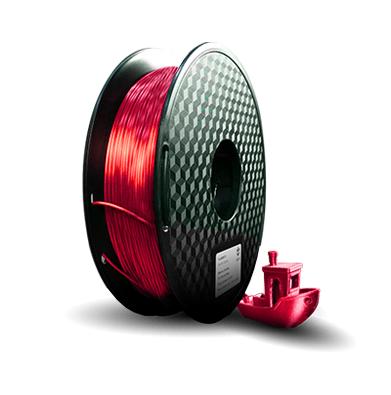 Filamento PLA  Silk - Vermelho Metal - 3D Lab - 1.75mm - 1kg