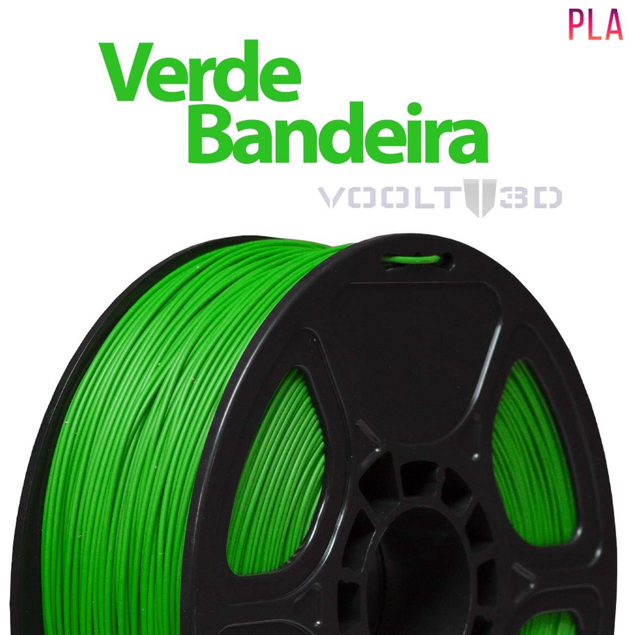 Filamento PLA - Verde Bandeira - Voolt - 1.75mm - 1kg