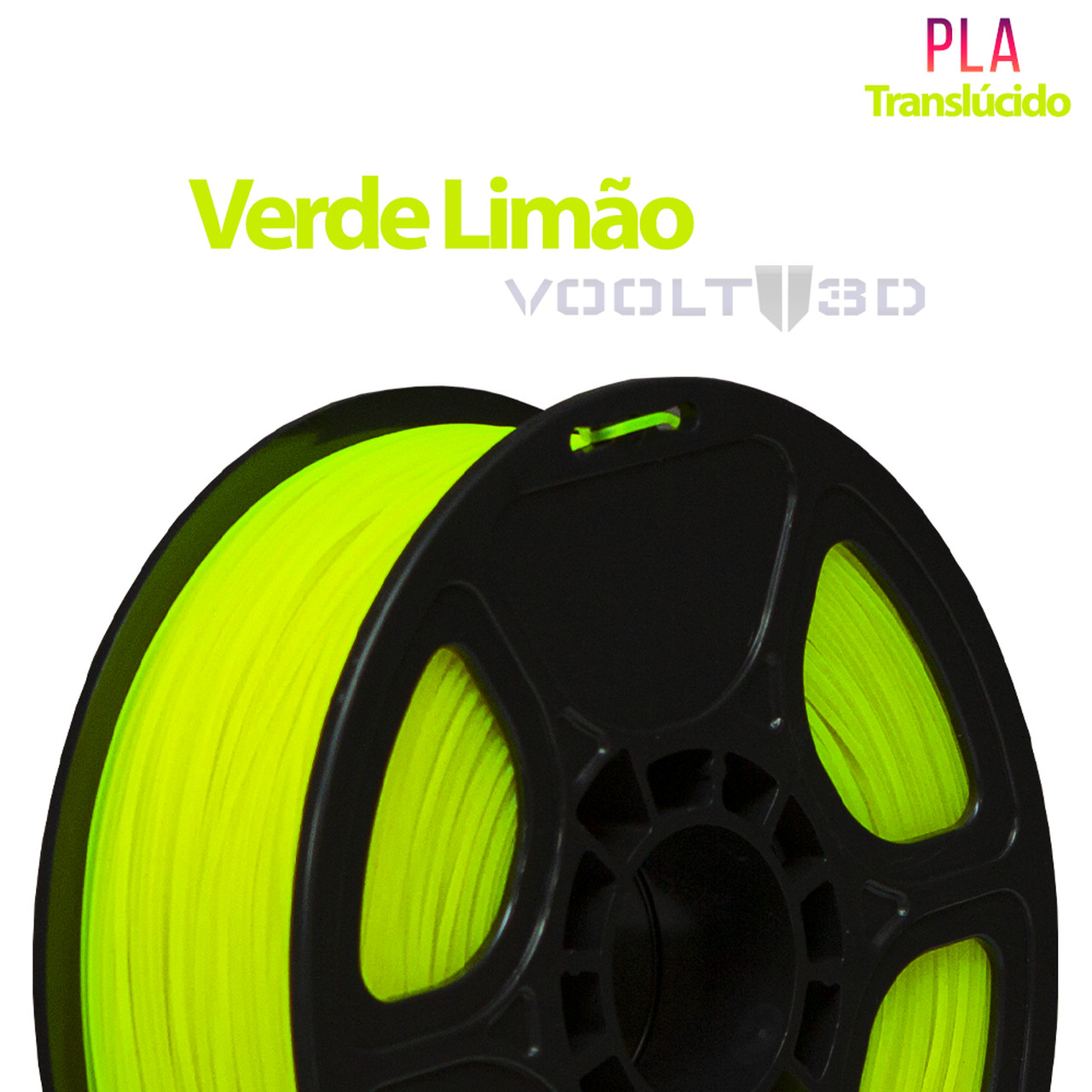 Filamento PLA - Verde Limão - Voolt - 1.75mm - 1kg