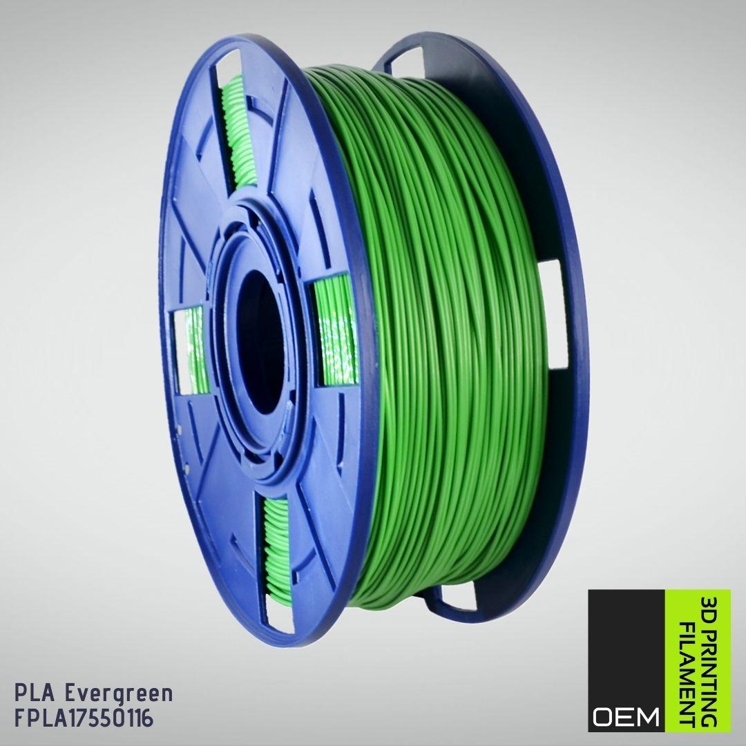 Filamento PLA - Verde - OEM - 1.75mm - 1KG