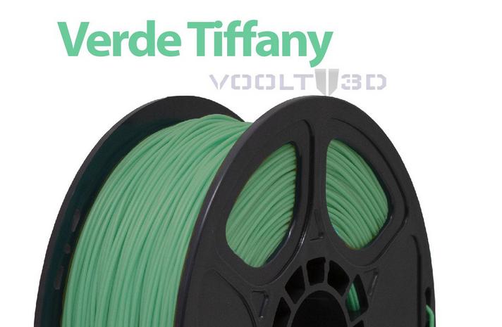 Filamento - PLA - Verde Tiffany - Voolt 3D - 1kg