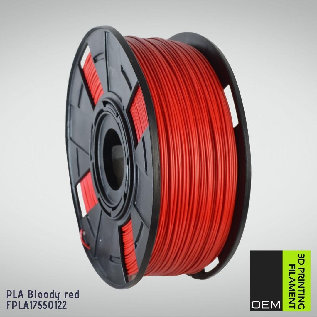 Filamento PLA - Vermelho - OEM - 1.75mm - 1KG