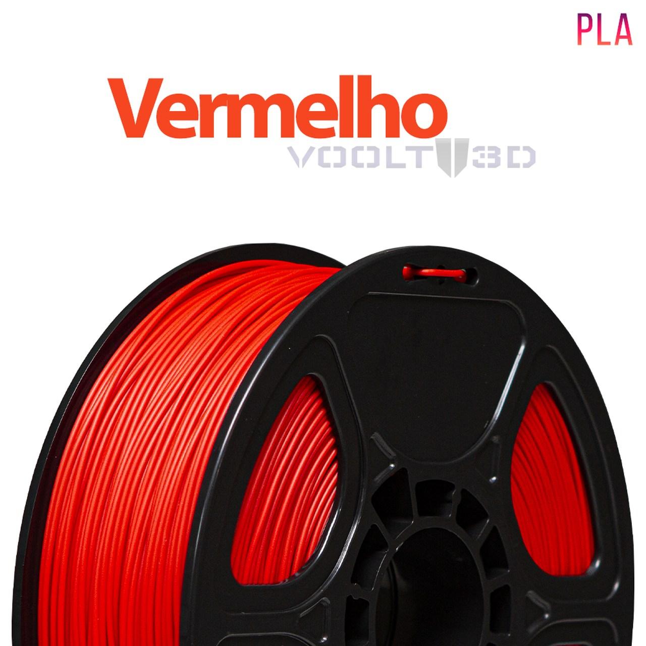 Filamento PLA - Vermelho - Voolt - 1.75mm - 1kg