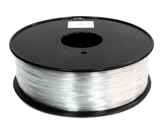 Filamento Policarbonato - Transparente - GTMax 3D - 1.75mm - 1KG