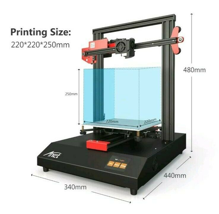 Impressora 3d - Anet - Et4 - Nivelamento Automático - Visor Touch