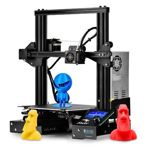Impressora 3D Creality 3D® + Placa de 32 Bits + Extrusora Alumínio - Ender 3