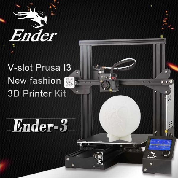Impressora 3D Creality 3D® - Extrusora de Alumínio + Placa de 32 Bits - Ender 3