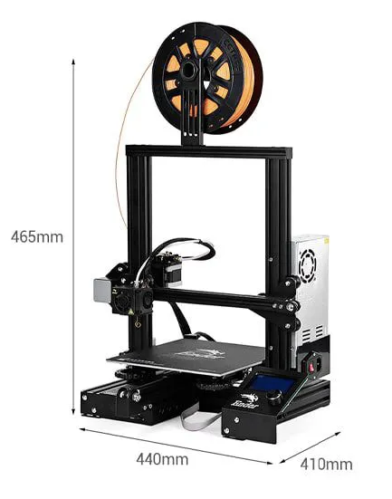 Impressora 3D Creality 3D® + Placa de 32 Bits + Upgrades - Ender 3 - Montada e Testada