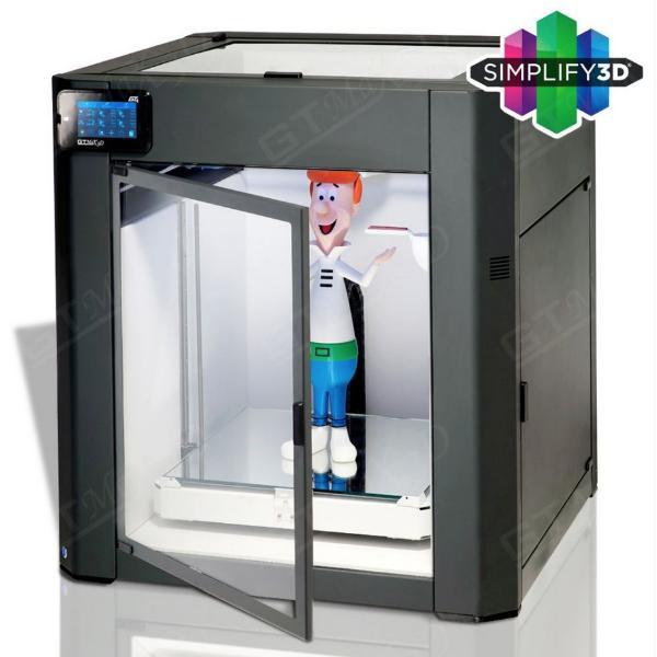 Impressora 3D PRO - GTMAX3D CORE GT4 + Simplify3D + 1KG De ABS