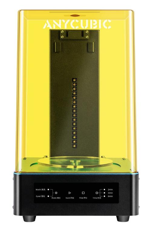 Máquina para Lavagem e Cura de Peças de Impressão 3D de Resina - V2 - Anycubic Cure And Wash 2.0