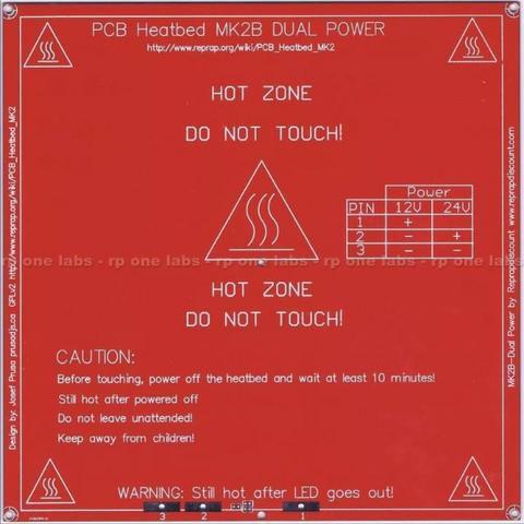 Mesa Aquecida Pcb Mk2b Dual Power Impressora 3d Reprap Arduino