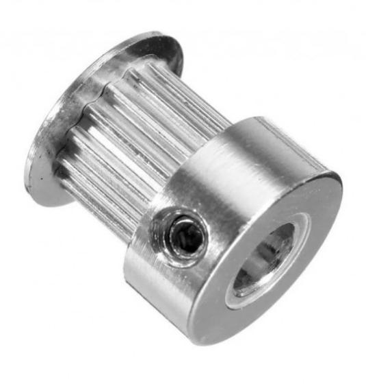 Polia GT2 Eixo 5mm 20 Dentes para Impressora 3D e CNC