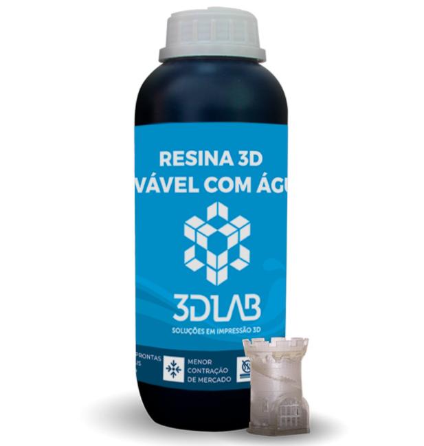 Resina 3D Lavável a Água - 3D Lab - 500ml