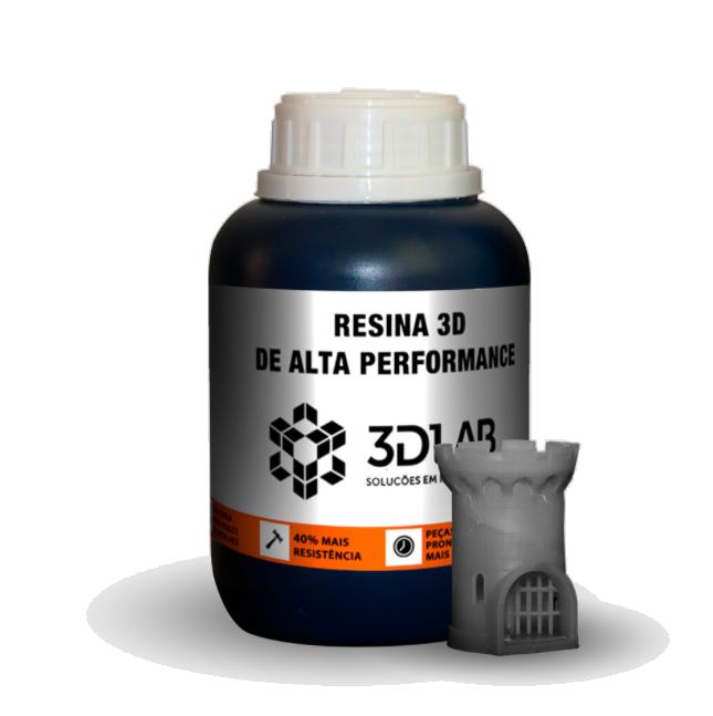 Resina 3D Pro de Alta Performance - Cinza Primer - 3D Lab - 500ml