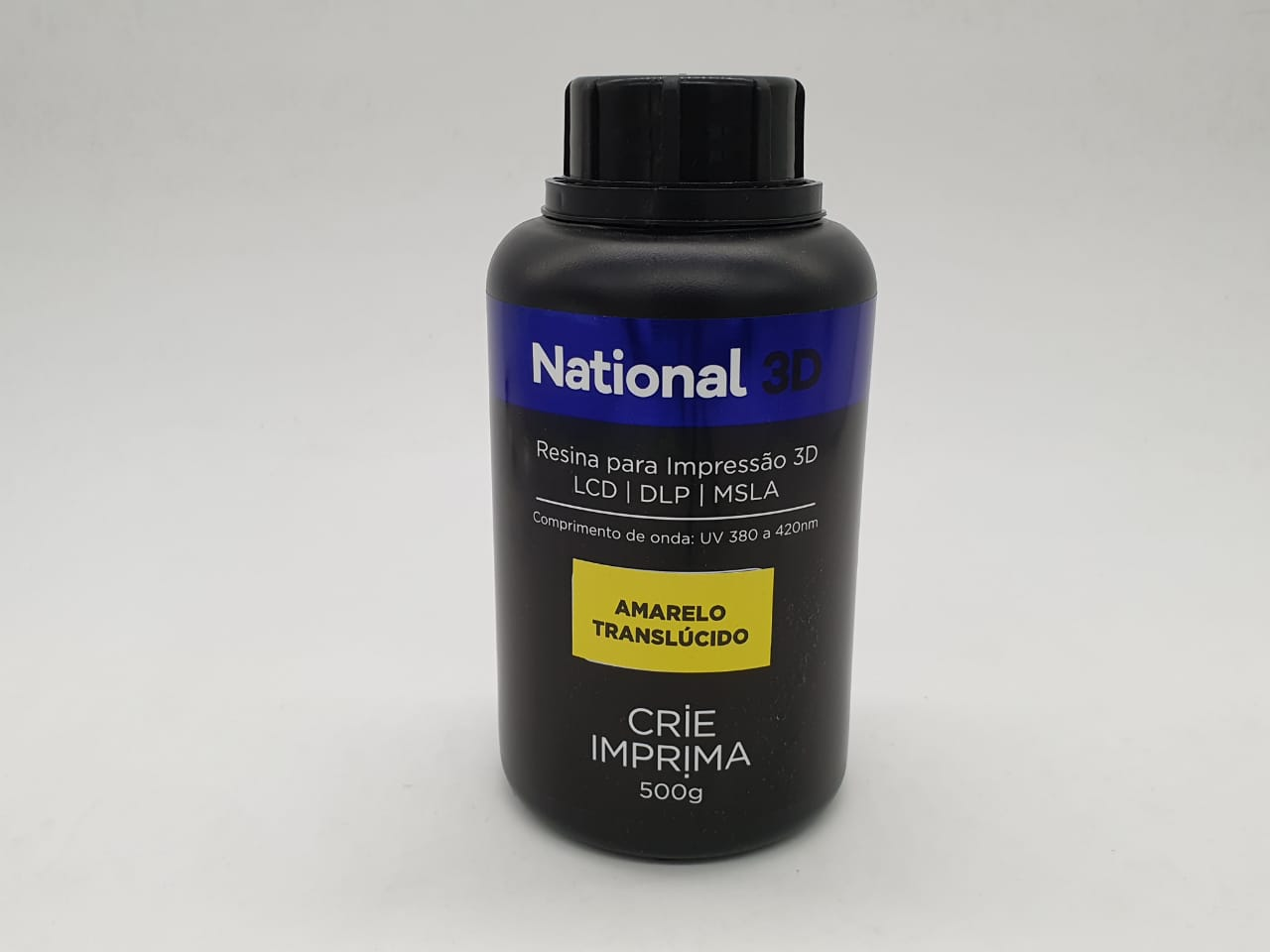 Resina  - Amarelo - Translúcida - National 3D - 500 ml
