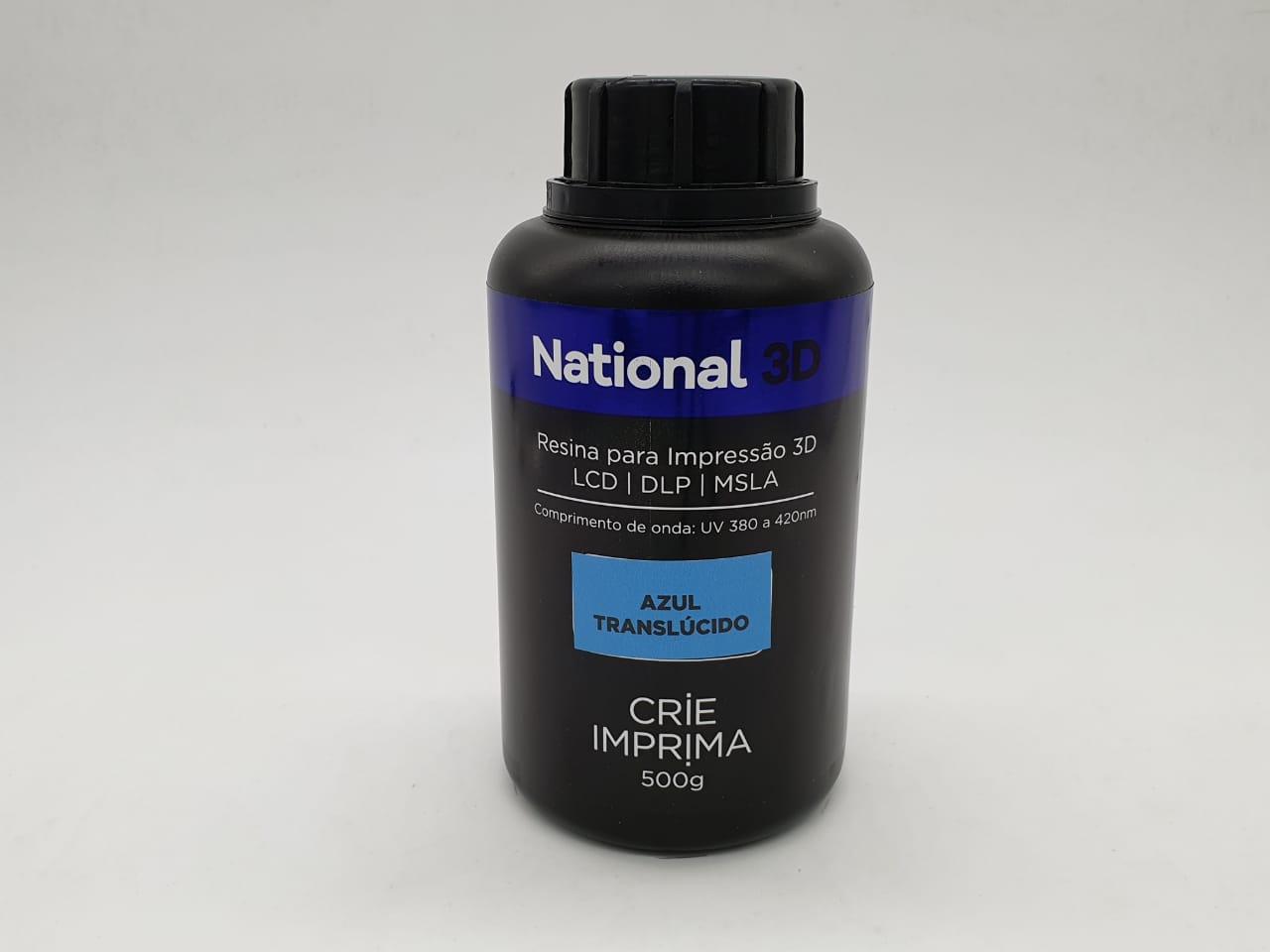 Resina  - Azul - Translúcida - National 3D - 500 ml