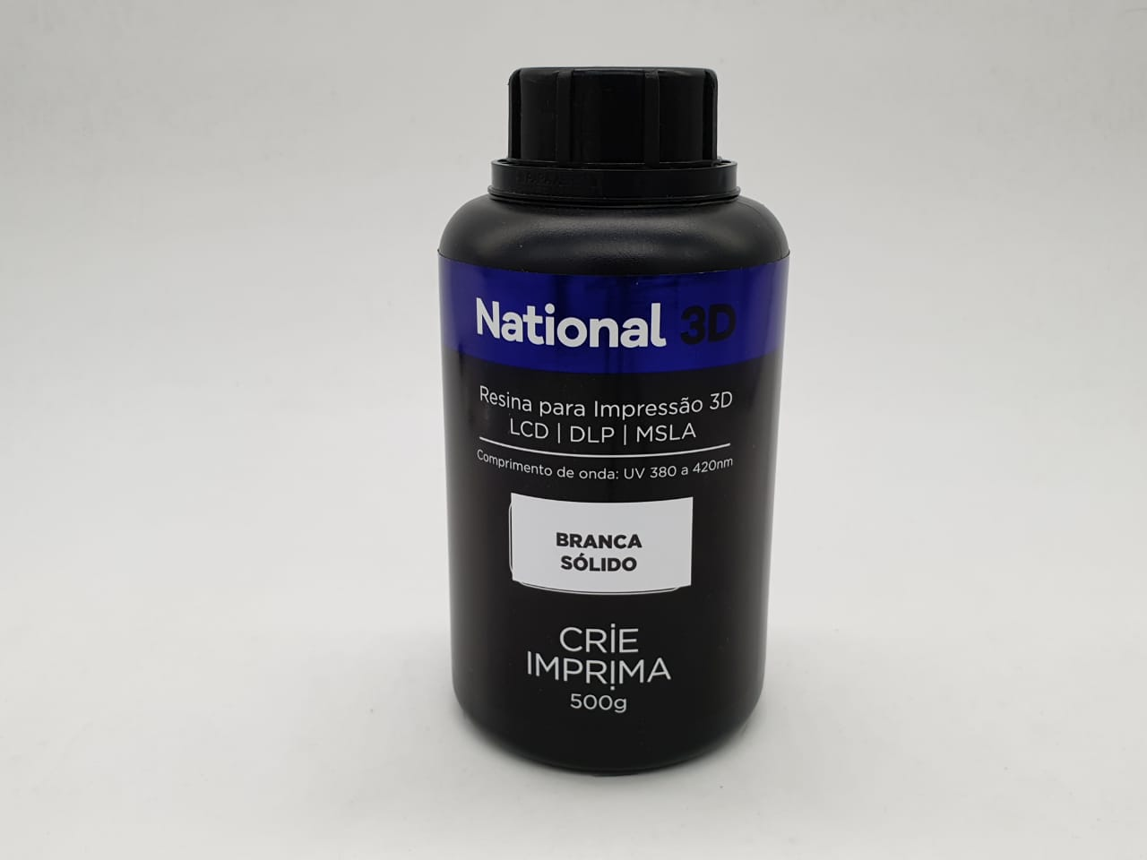 Resina  - Branco - Sólidos - National 3D - 500 ml