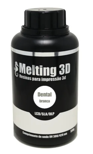 Resina Melting 3D - Branca - Dental - LCD/SLA/DLP - 380/420nm - 500 ml