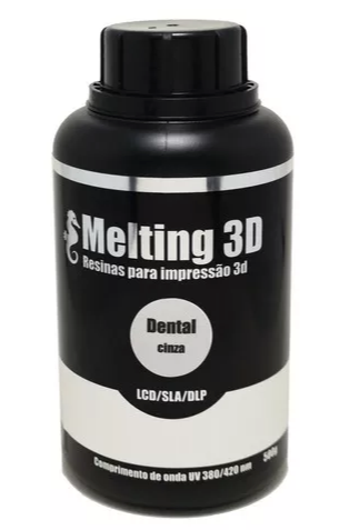 Resina Melting 3D - Cinza - Dental - 405nm - 500 ml