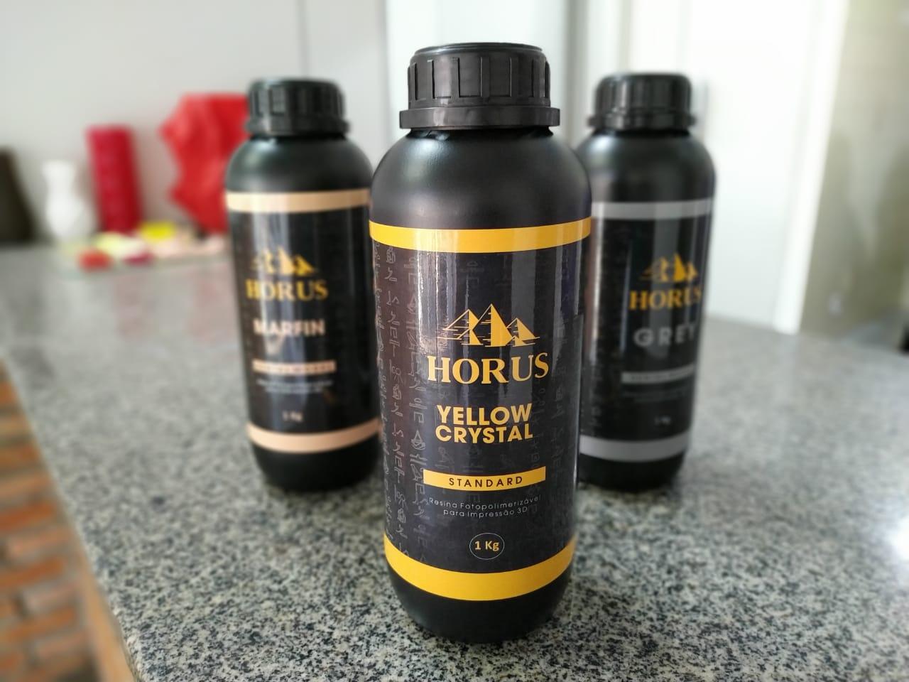 Resina Padrão para Prototipagem - Horus - Yellow Crystal Standard de 1 Litro