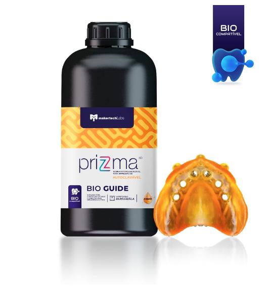 Resina priZma - 3D Bio Guide - Autoclavável - MakertechLabs - SLA/DLP/LCD - 250g