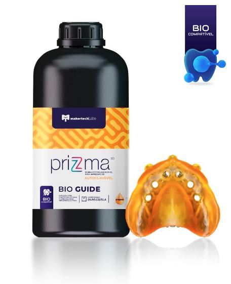 Resina priZma - 3D Bio Guide - Autoclavável - MakertechLabs - SLA/DLP/LCD - 500g