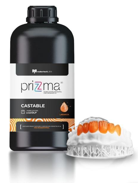Resina priZma - Castable - Impressão 3D - MakertechLabs - DLP/LCD - 250g