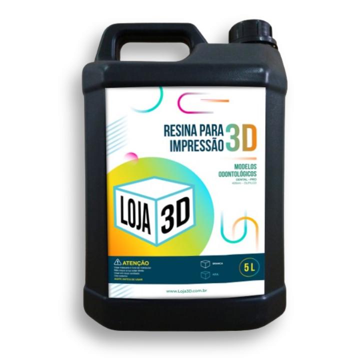 Resina Pro de Alta Performance - Azul - Dental - Loja 3D - DLP/LCD - 5 Litros