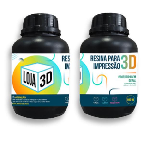 Resina Pro de Alta Performance - Clear - Standard - Loja 3D - DLP/LCD - 500 ml