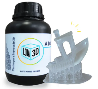 Resina Pro de Alta Performance - FLEX - Clear - Loja 3D - DLP/LCD - 500 ml