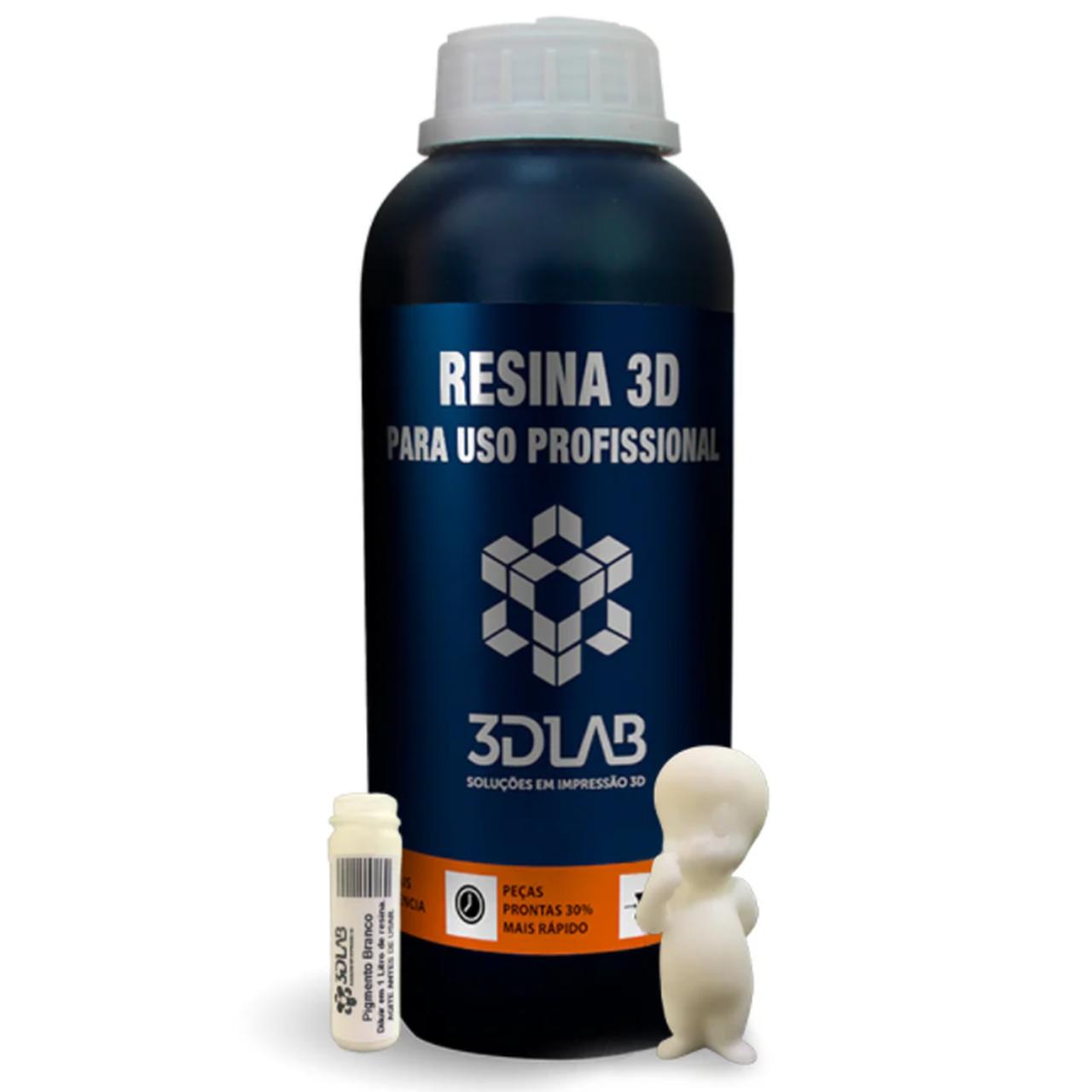 Resina Standard - Branca - 3D Lab - 1 Litro