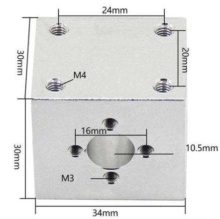 Sistema Completo - Tr8 - Fuso Trapezoidal - 300mm Com Suporte