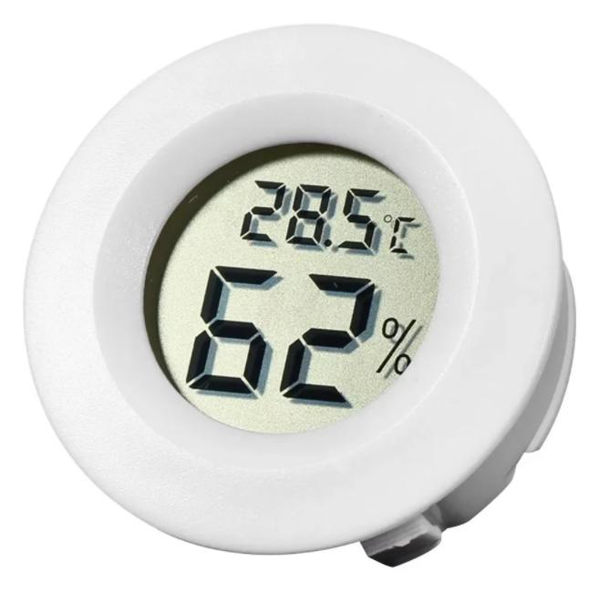 Termômetro Eletrônico e Hidrogênio para medir Temperatura e Umidade de Filamentos