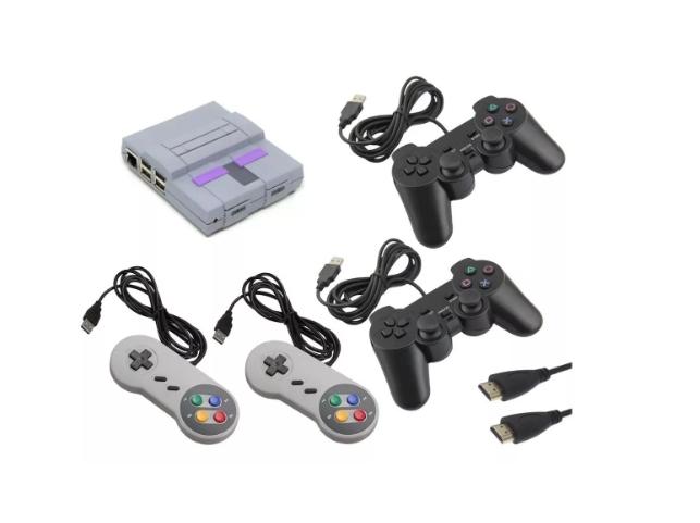 Vídeo Game Retro Impresso em 3D - Super Nintendo Snes - 10257 Jogos - 4 Controles