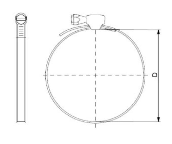 Abraçadeira de inox 80-100 mm -  10 unidades