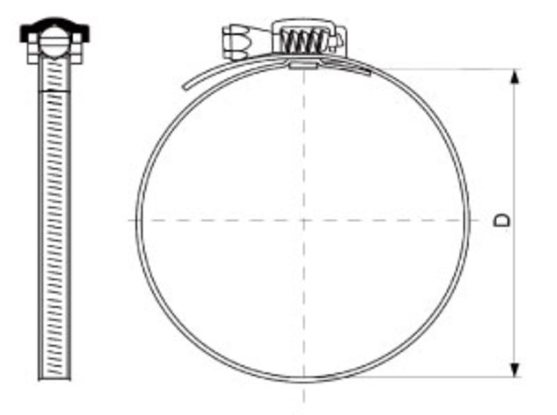 Abraçadeira De Metal 10 Pol (254 Mm) - Kit 5 Unid. - Novair