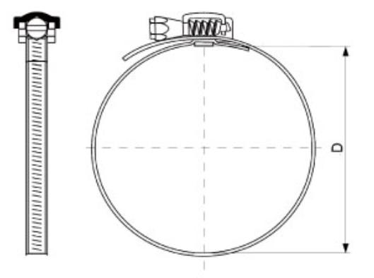 Abraçadeira de Metal - Kit com 5 unidades