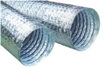 Duto Flex Sem Isolamento 10m - 6 Polegadas - 152mm