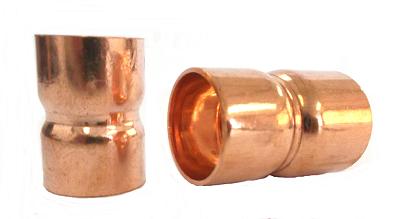 LUVA DE COBRE 1 1/4 POL. FZ - Kit com 5 peças