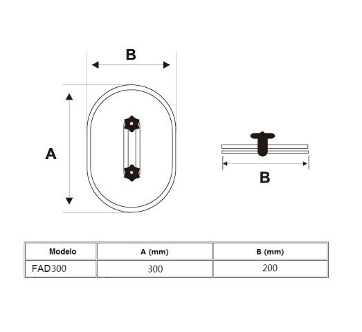 Porta de Inspeção aço Galvanizado modelo FAD 300x200mm Novair