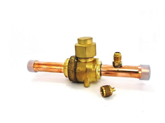 Válvula esfera de cobre 5/8 - Com acesso - NOVAIR