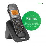 Ramal Telefone Sem Fio Intelbras Identificador Chamadas Bina Viva Voz TS 5121 Preto