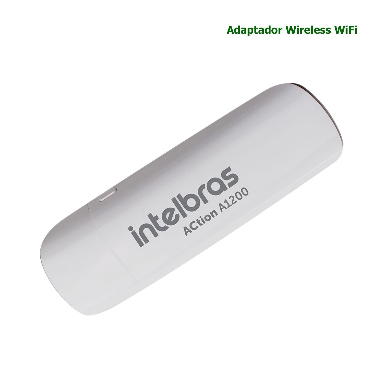 Adaptador Wireless Intelbras USB WiFi Dual Band 1200Mbps ACTION A1200