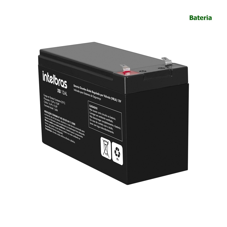 Bateria 12V Intelbras Sistema Segurança Alarme Cerca Elétrica XB 12AL