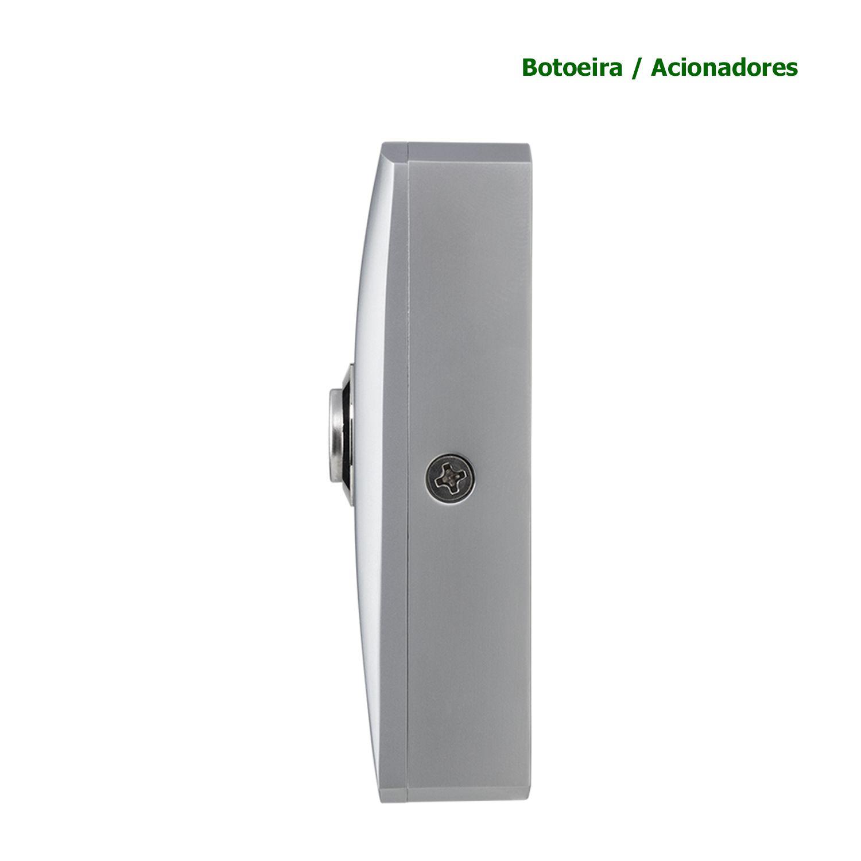 Botoeira Inox Sobrepor Intelbras Botão Acionador NA Abertura AC6904 BT 3000 IN