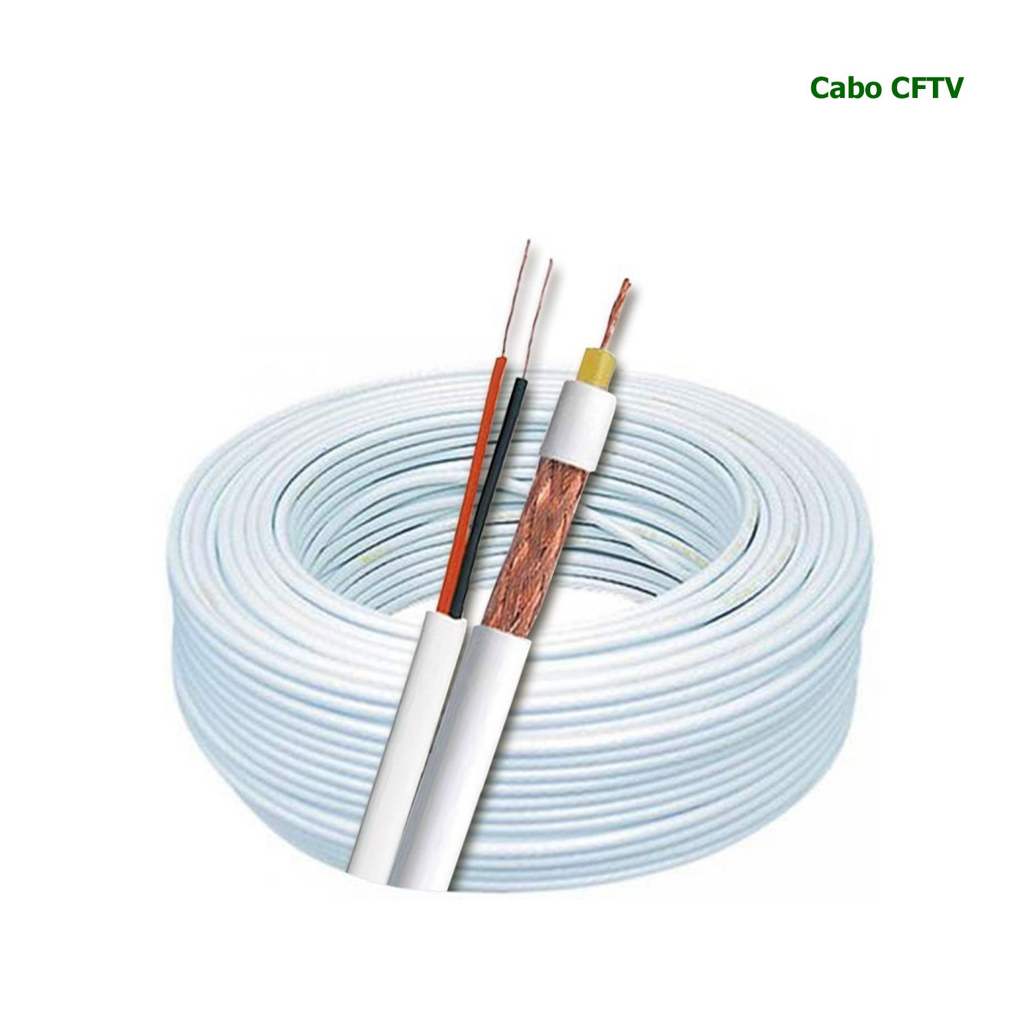 Cabo 4mm Flex + bipolar 2 X 2 6AWG 80% BRANCO (Cx 100m)