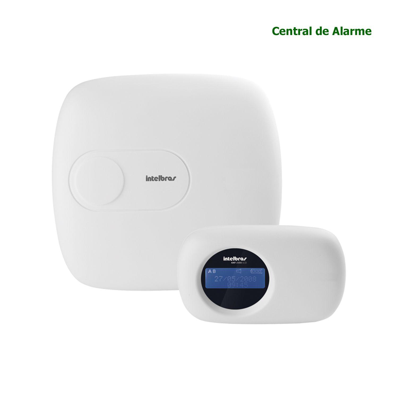 Central Alarme Intelbras Monitorada 18 Zonas Teclado LCD Ethernet Aplicativo Celular AMT 2018 E