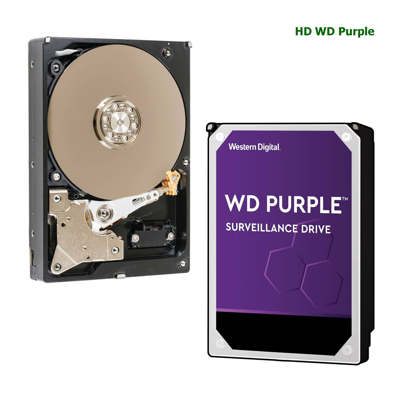 Disco Rígido HD Wd Purple Surveillance Para CFTV 3T