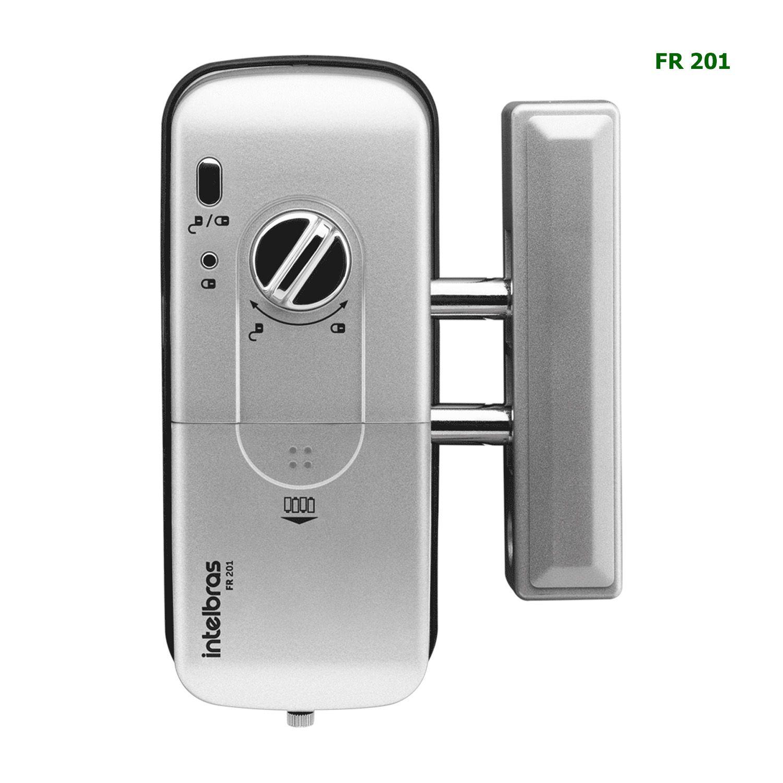 Fechadura Digital Intelbras Chaveiro Tag RFID 13,56MHz Senha Touch Screen FR 201 Sobrepor